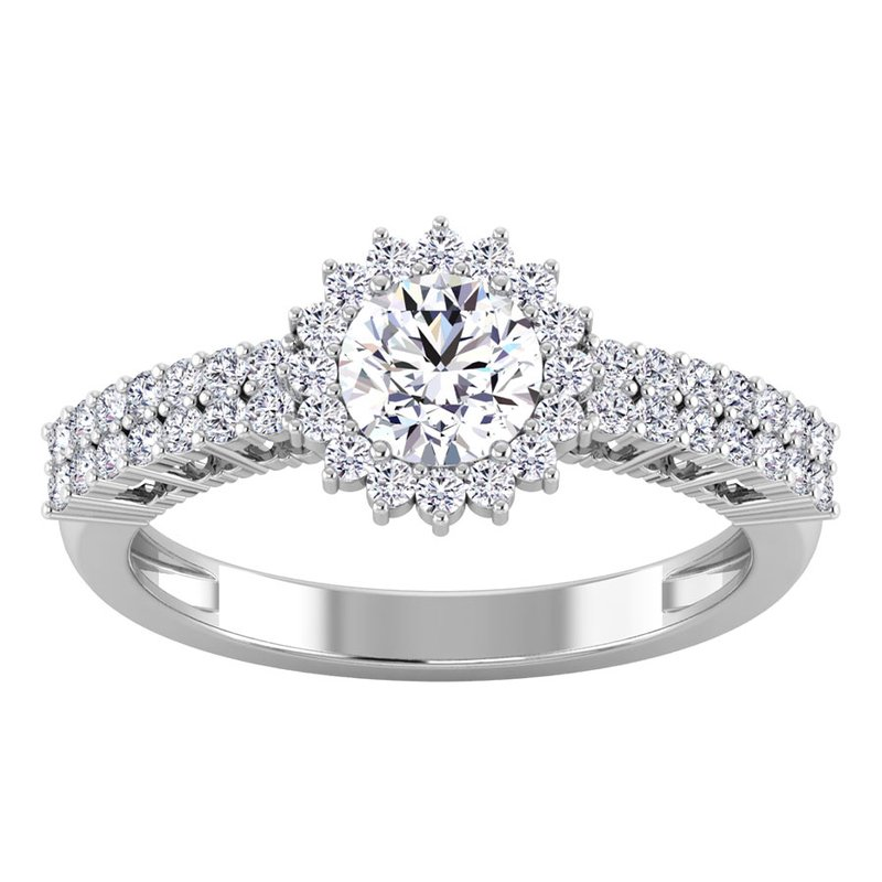 Lab Grown Diamonds Certified 1 1/8ct Diamond Engagement Ring