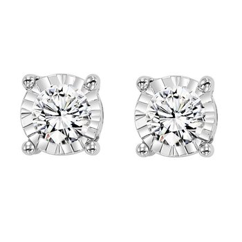 Tru-Reflection Diamond Earrings