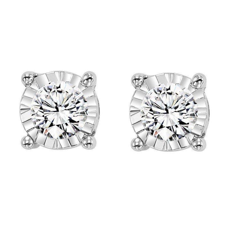 Saslow's & Henebry's Collection Tru-Reflection Diamond Earrings