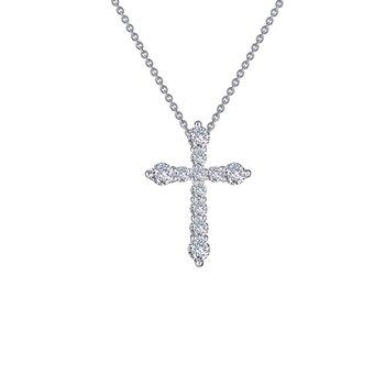 0.67 CTW Cross Pendant Necklace
