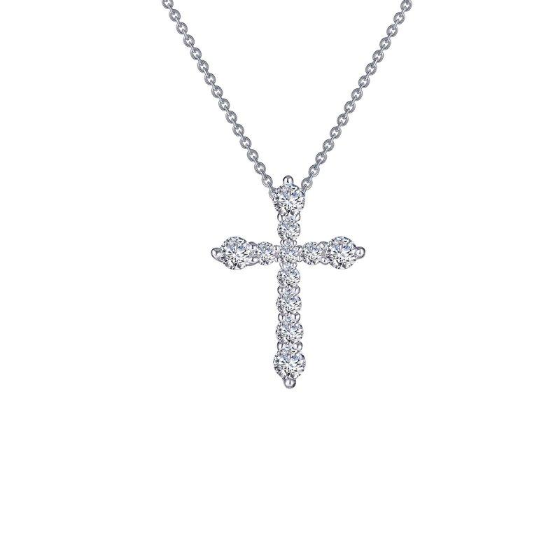 LaFonn 0.67 CTW Cross Pendant Necklace