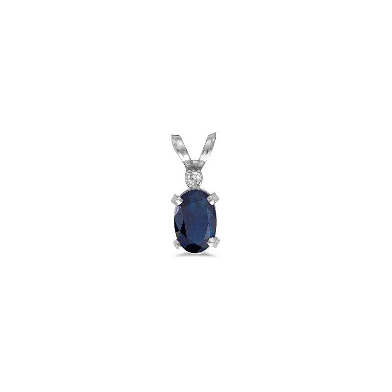 Birthstone Collection 14ky Sapphire/Diamond Pendant