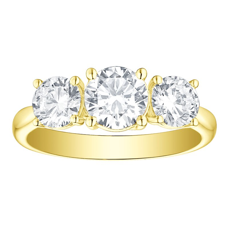 Lab Grown Diamonds YG Lab Grown Three Stone Ring