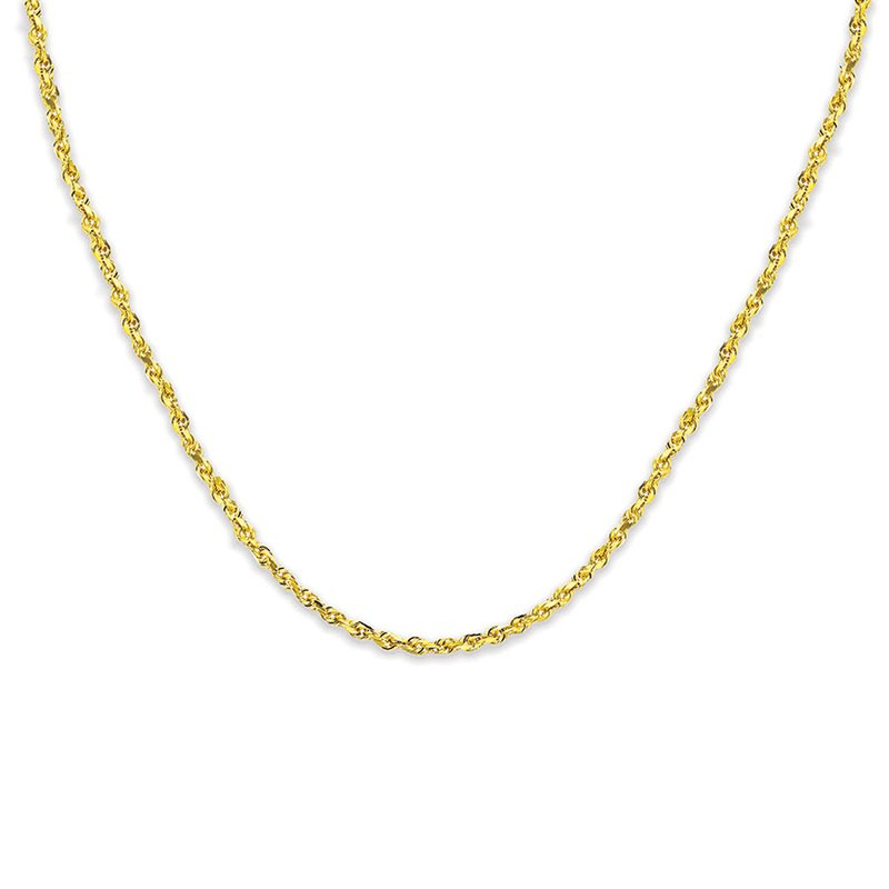 """Gold Chains and Bracelets  14K 22"""" 7mm Hollow Rope"""