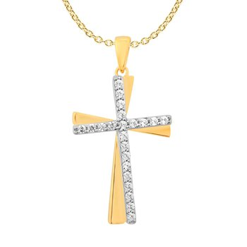 .20ctw Cross Pendant