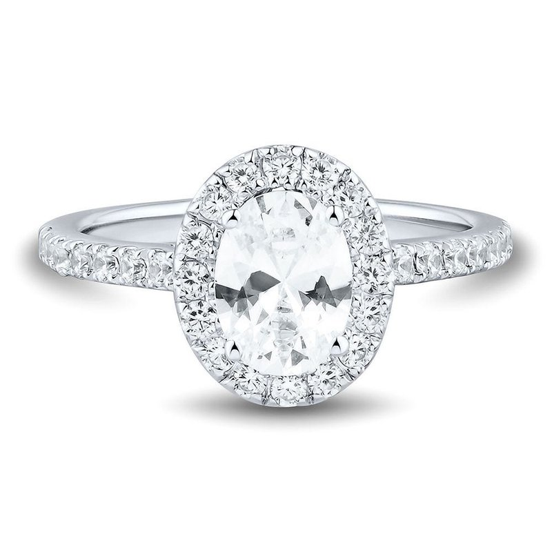 Lab Grown Diamonds Certified 1.5ctw Lab Grown Diamond Halo Engagement Ring