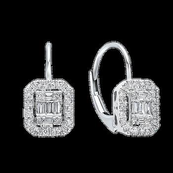 1/3ctw Baguette Diamond Earrings