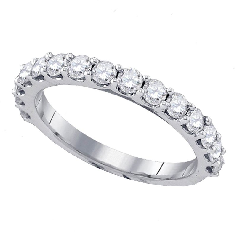 Saslow's & Henebry's Collection 1ctw White Gold Prong Set Diamond Band