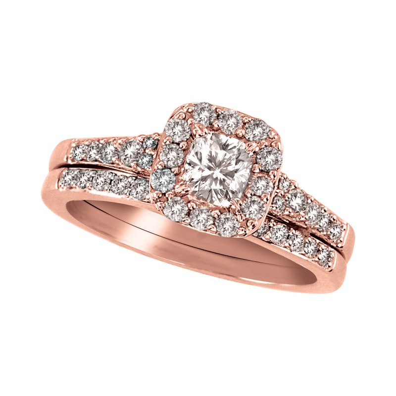 Promise Forever 1ctw Halo Bridal Set