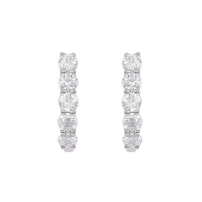 Lab Grown Diamonds 14kw 1 ctw Diamond Hoops