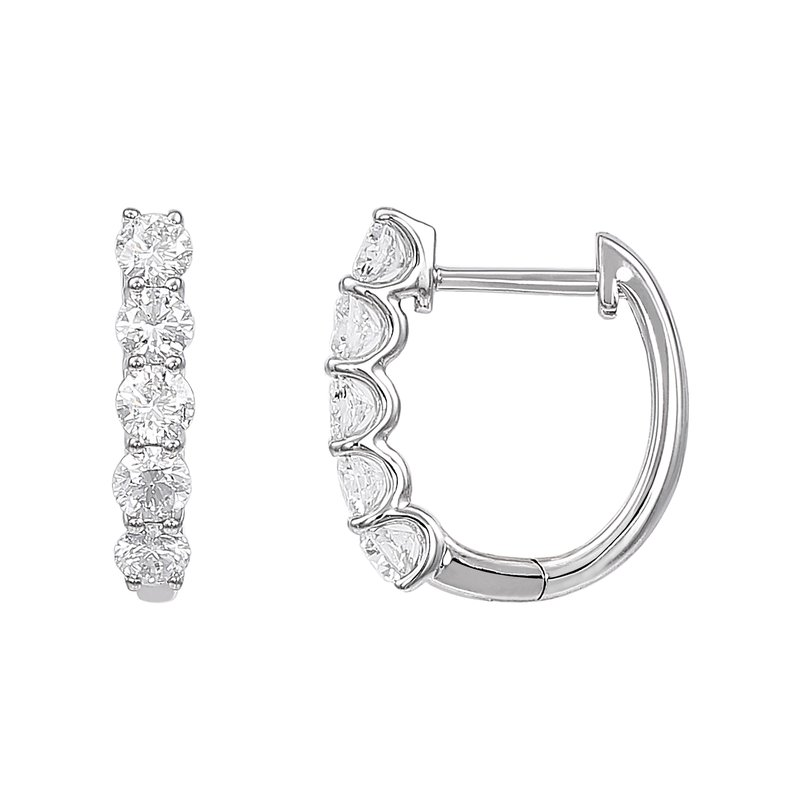 Lab Grown Diamonds 14kw 1 ctw Lab Grown Hoops