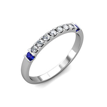 """The Royal"" Diamond & Sapphire Band Ring"