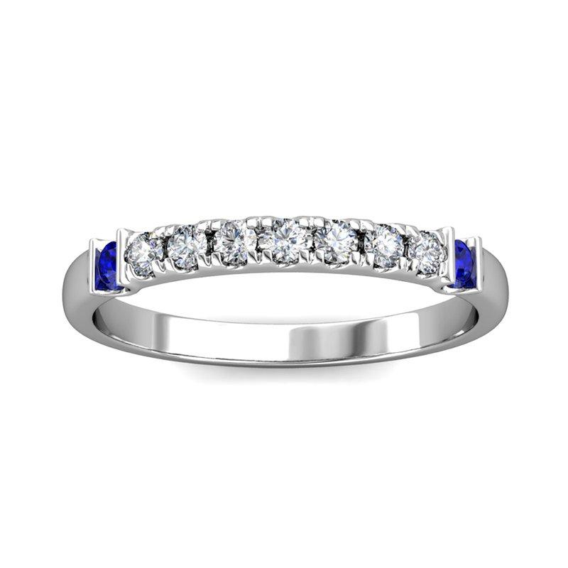 "Novell ""The Royal"" Diamond & Sapphire Band Ring"