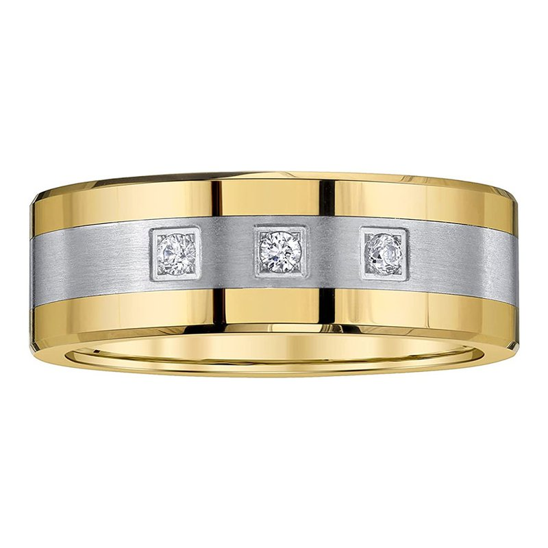 Saslow's & Henebry's Collection 8mm Two-Tone Tungsten Diamond Band