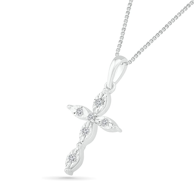 Gifts That Rock .06ctw Diamond Cross Necklace