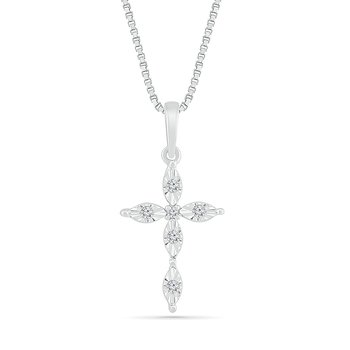 .06ctw Diamond Cross Necklace