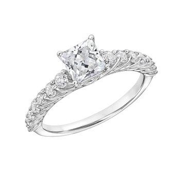 Certified 1.5ctw Princess Cut Center Engagement Ring