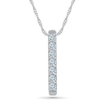 .06ctw Diamond Bar Necklace