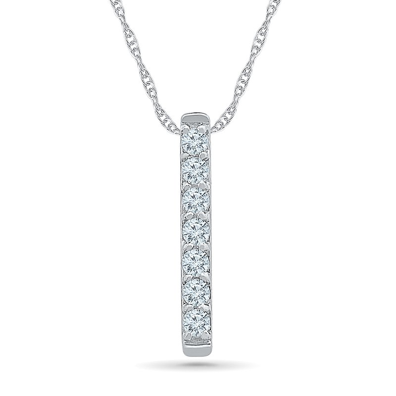 Gifts That Rock .06ctw Diamond Bar Necklace