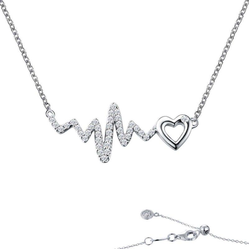 LaFonn Heart & Heartbeat Necklace