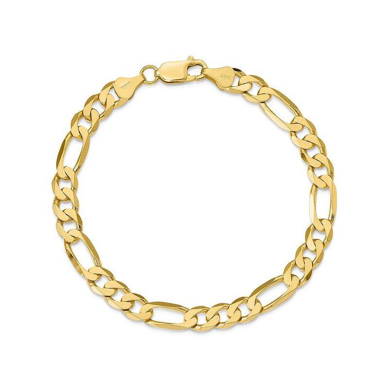 "Gold Chains and Bracelets  10K 8"" Light Figaro Bracelet"