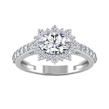 Certified 1 3/4ctw Halo Engagement Ring
