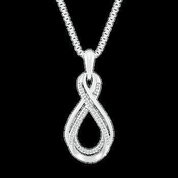 Diamond Double Swirl Pendant