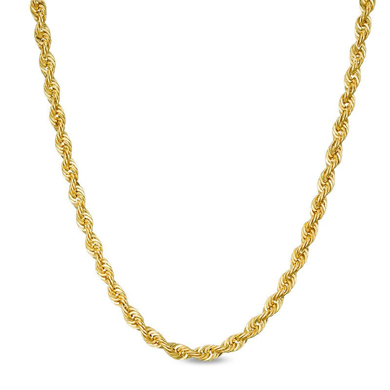 """Gold Chains and Bracelets  10kt 20"""" 2.1mm Diamond Cut Rope"""