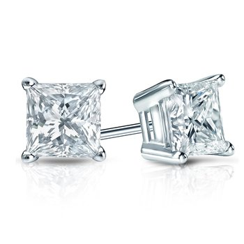 Princess Cut Diamond Studs 1/5ctw-1ctw