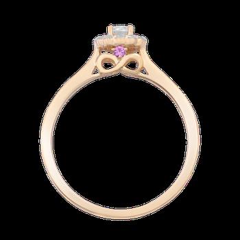 1/4ctw Round Halo Promise Ring