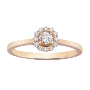 1/4ctw Round Halo Promise Ring