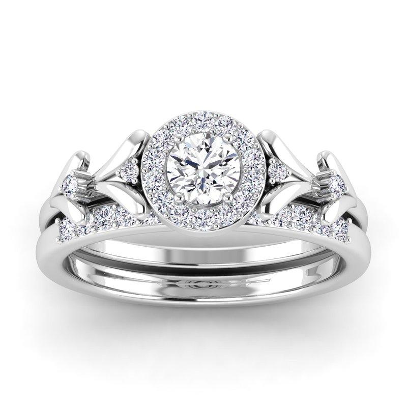 Lab Grown Diamonds Certified 1/2ctw Diamond Engagement Ring