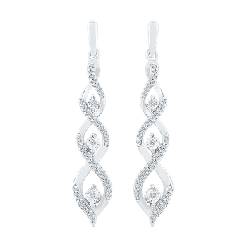 .20ctw Twist Drop Earrings