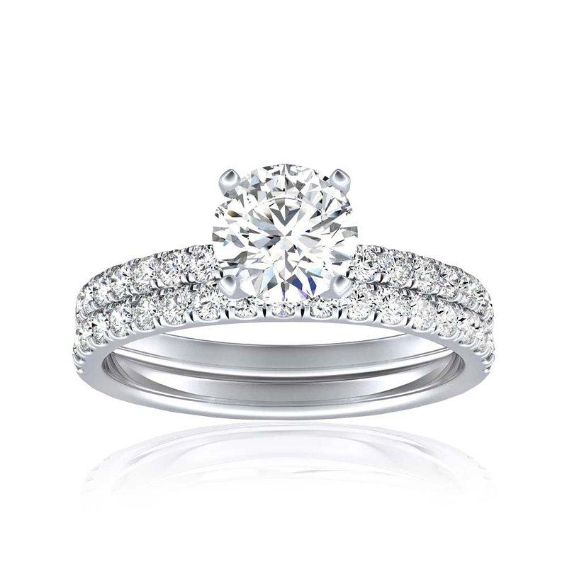 Lab Grown Diamonds Certified Round Diamond 1.5ctw Bridal Set