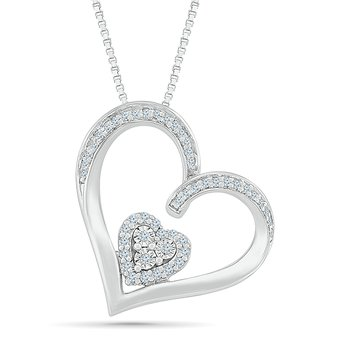 .12ctw Two Hearts Diamond Necklace