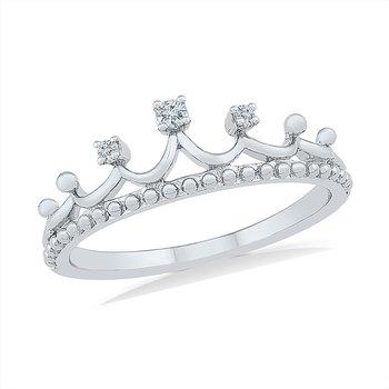 Diamond Tiara Promise Ring