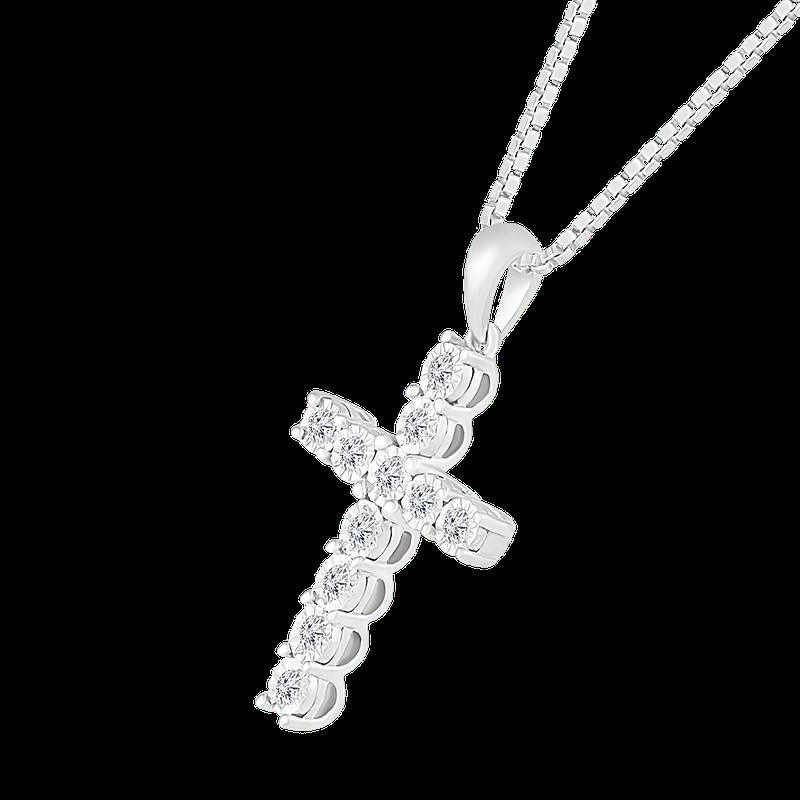 Saslow's & Henebry's Collection Diamond Illusion Cross Pendant