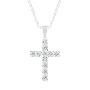 Diamond Illusion Cross Pendant