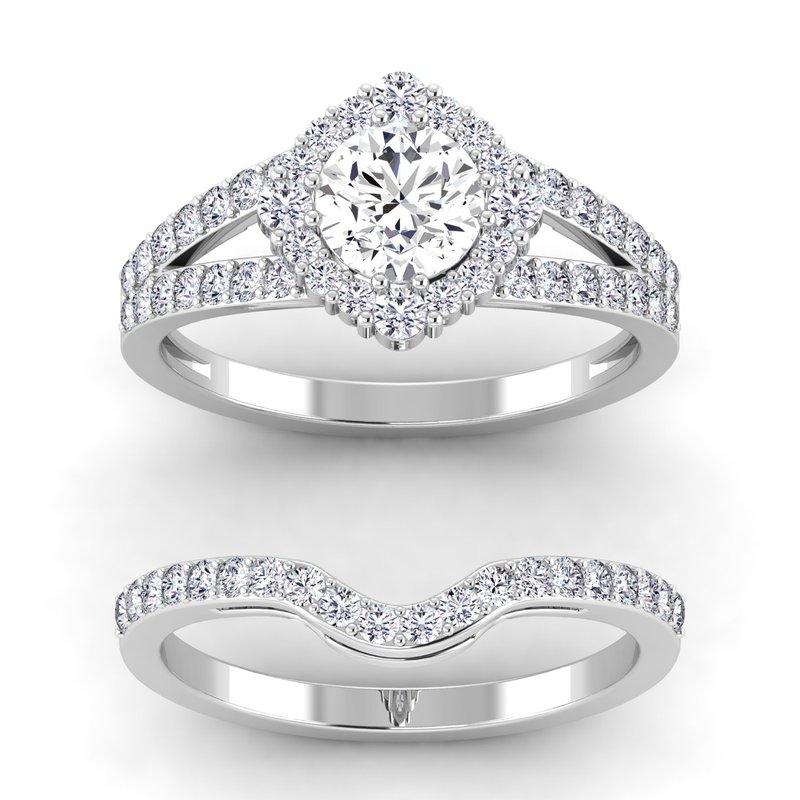 Lab Grown Diamonds Certified 1/5ctw Diamond Matching Band