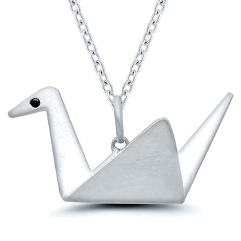 Origami Swan SS Necklace