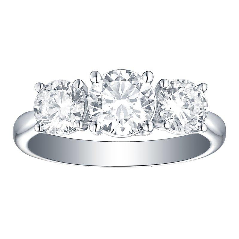 Lab Grown Diamonds Three Stone Diamond Ring
