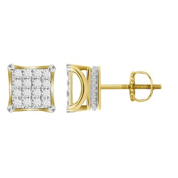 .50ctw Square Cluster Earrings SALE: