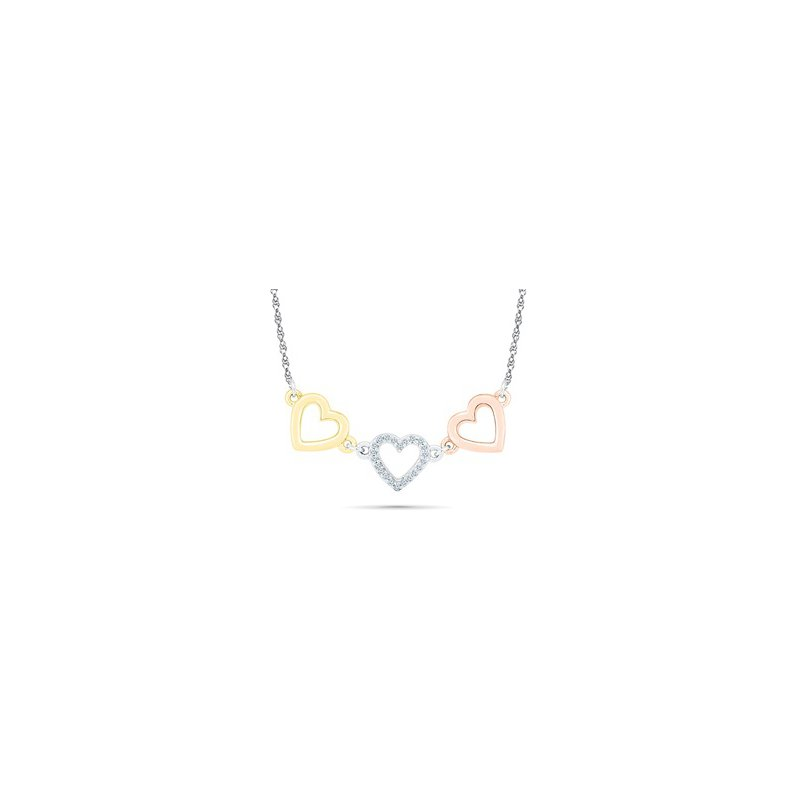 Saslow's & Henebry's Collection Triple Heart Necklace