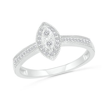 .12ct Marquise Halo Diamond Ring