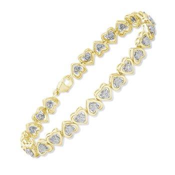 .25ctw Heart Bracelet
