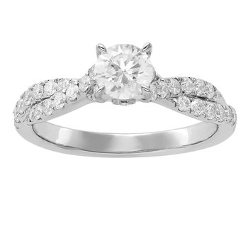 Certified 1ctw Diamond Oval Engagement Ring