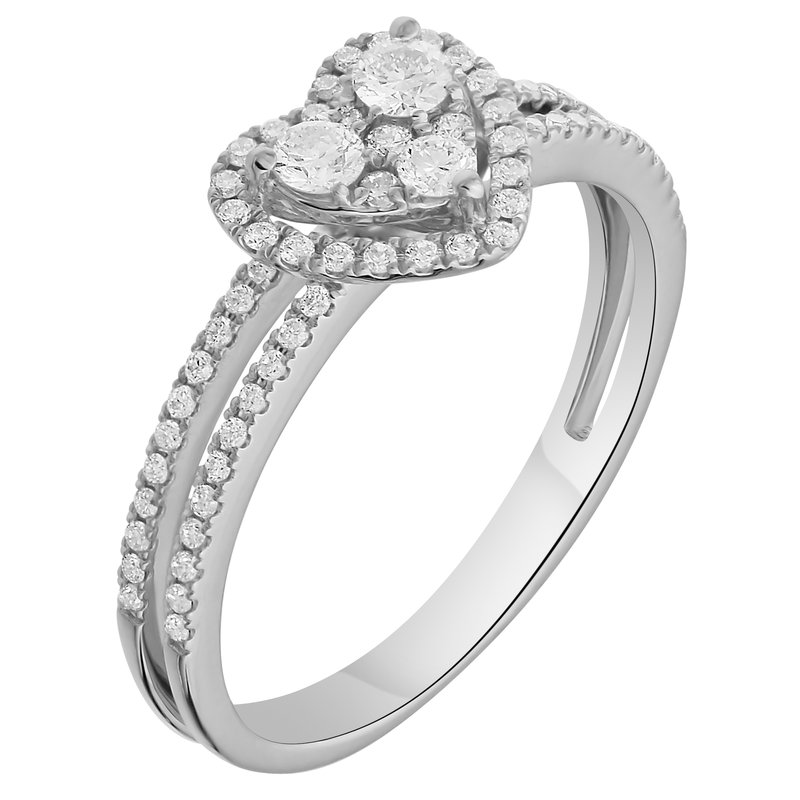 Lab Grown Diamonds WG .43ctw Cluster Heart Ring
