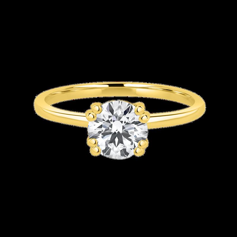 Lab Grown Diamonds Certified 1.08ctw Round Hidden Halo Ring