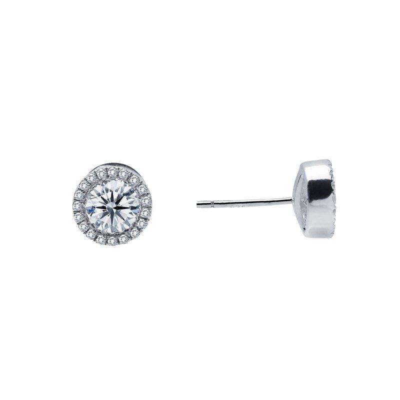 LaFonn 0.8 CTW Halo Stud Earrings