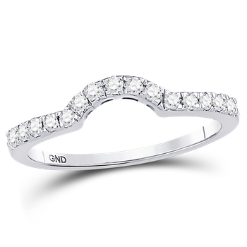 1/4 ctw Curved Diamond Band